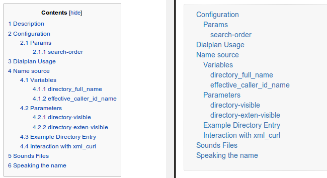 Please Find Here A Toc Using Number And 2ex For Indent Get Started With Confluence Docs
